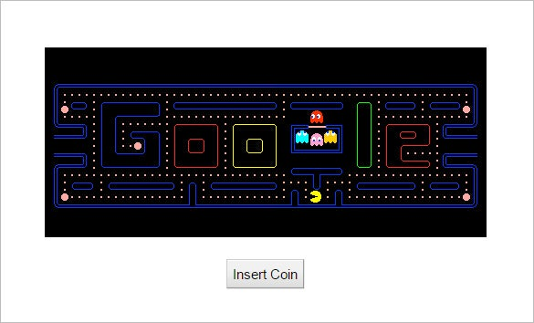 anniversary of pac man interactive google logo