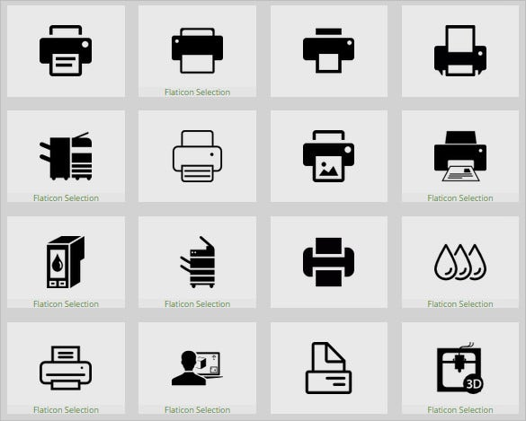 awesome printer icons set to download