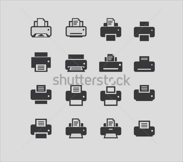 creative printer icons set to download