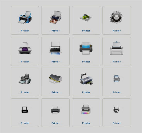 creative printer icons collection to download