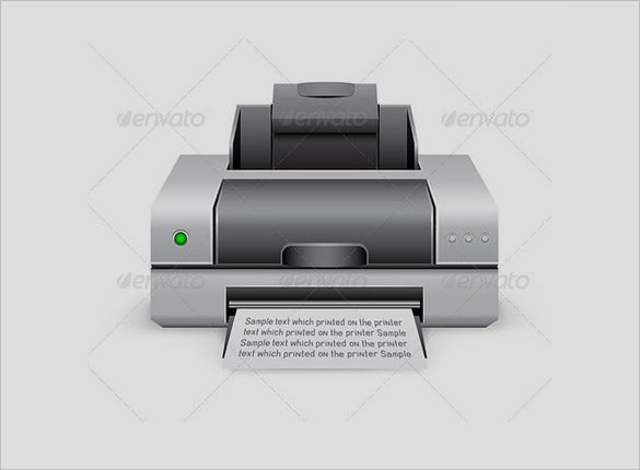 best printer flat icons to download
