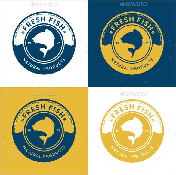 amazing premium fresh fish business logo