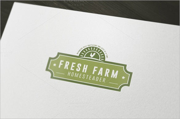 premium fresh farm business logo