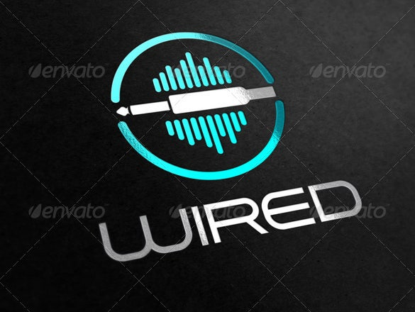 wired premium fresh business logo