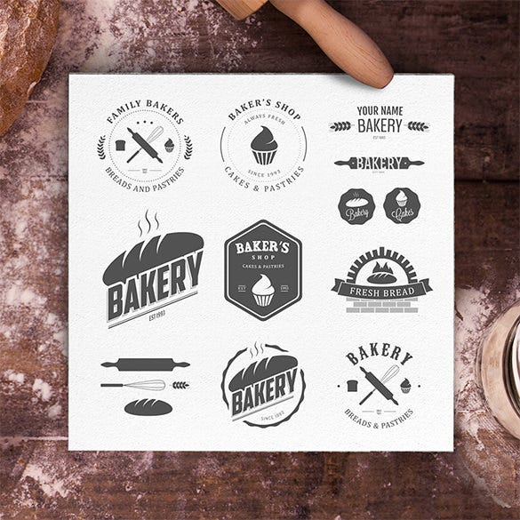 premium fresh bakery business logo