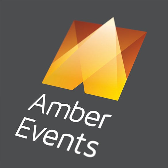 amber events fresh business logo for free