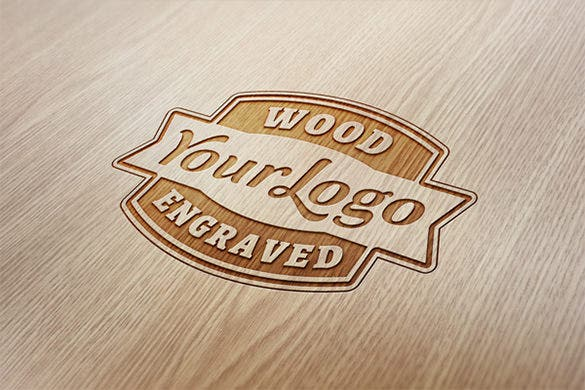 wood engraved free photoshop documents logo