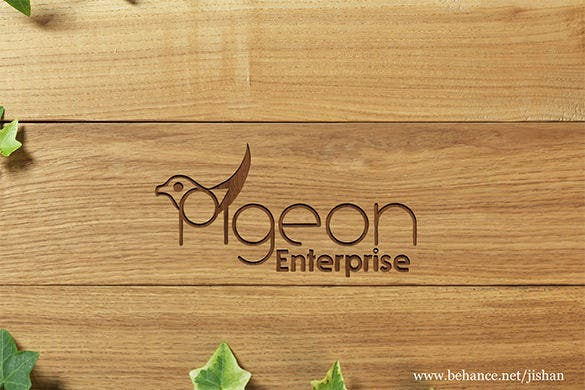 free pegion enterprises photoshop documents logo
