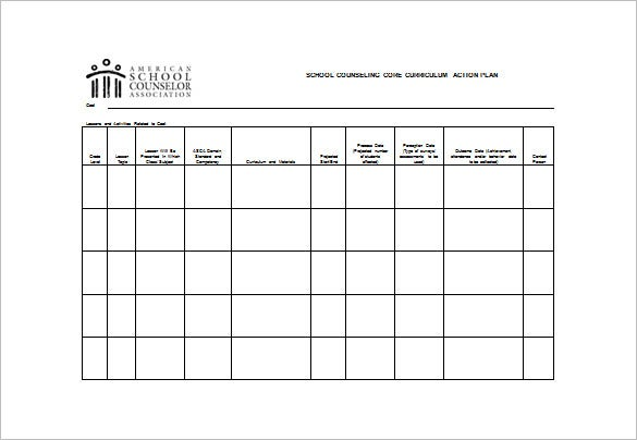 Action Plans School Counseling Example Action Plan Template School