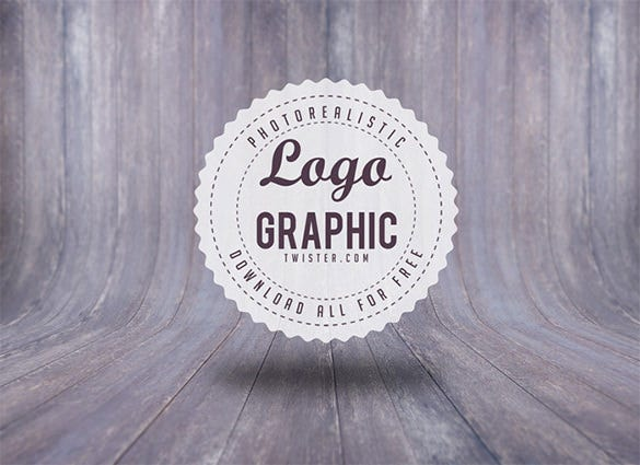 free retro badge photoshop documents logo