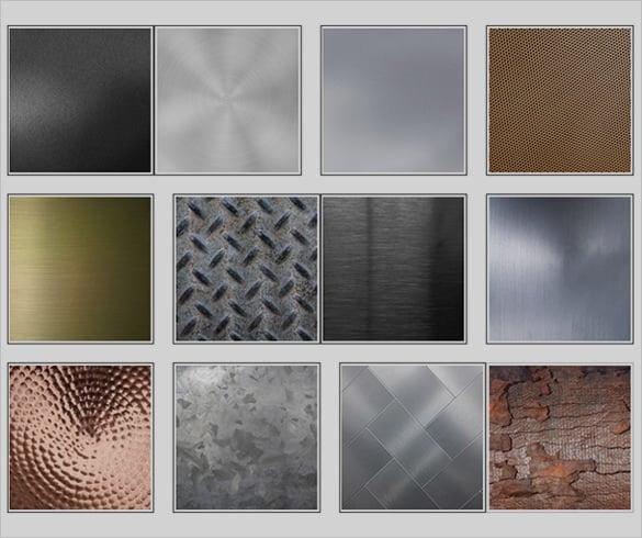 different steel textures