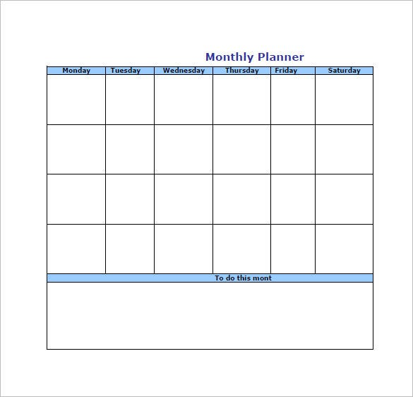 Monthly To Do List Template  PetitComingoutpolyCo
