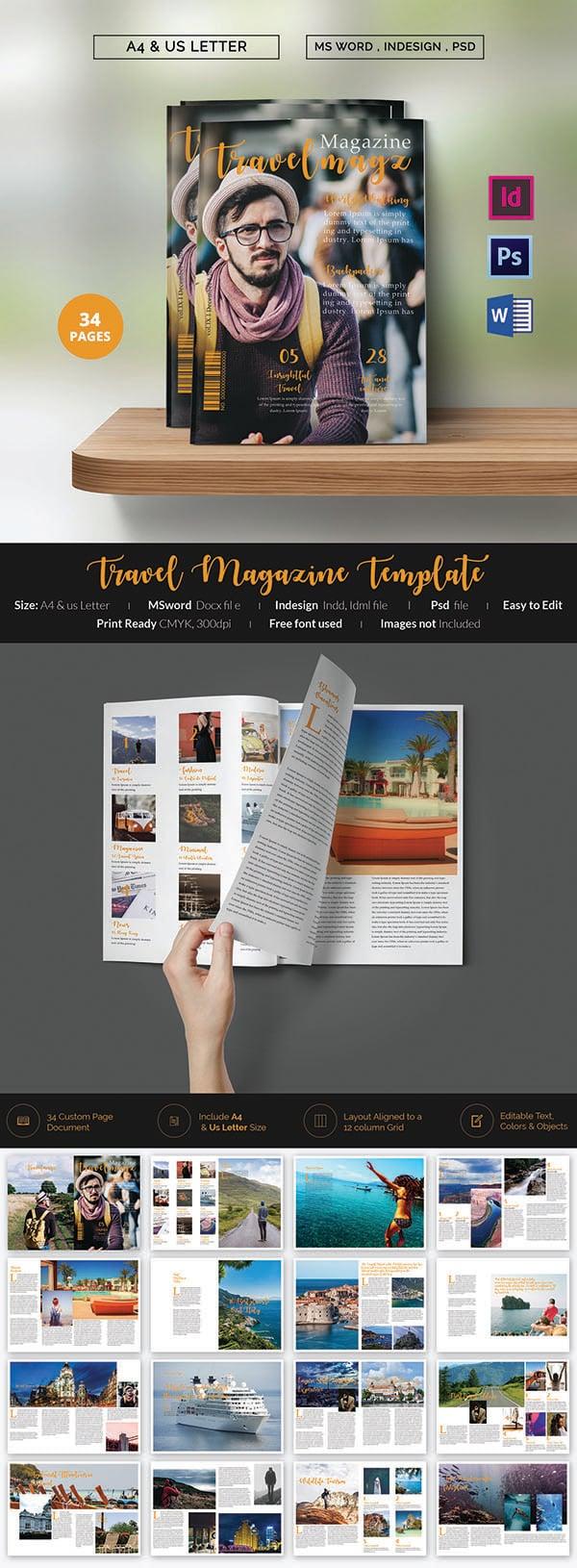 brand new magazine templates word psd eps ai creative travel agency magazine
