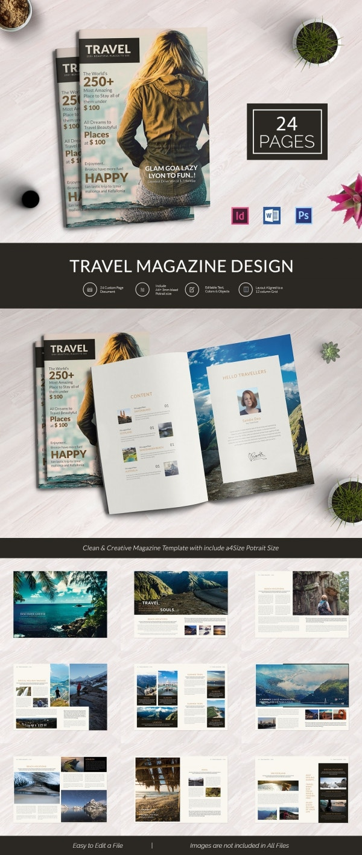 Travel Brand New Magazine Template