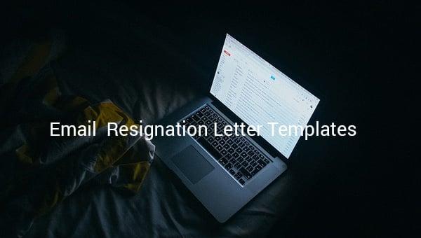 emailresignationlettertemplate