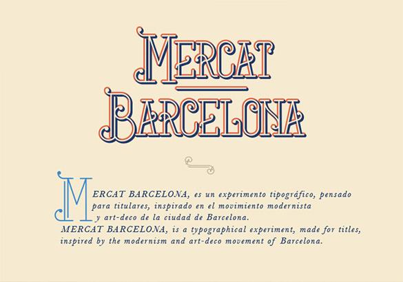 mercat barcelona font for designer
