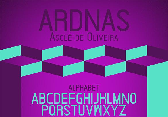 ardnas modern font for designer