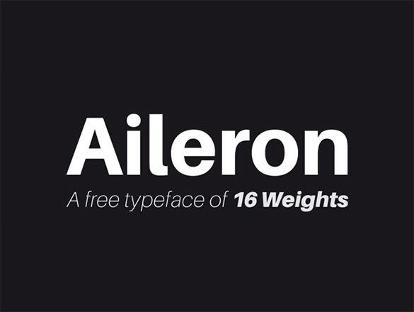 aileron free modern font for designers