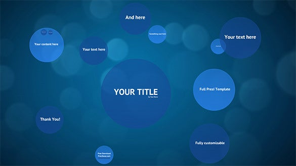 blue circles prezi templates free