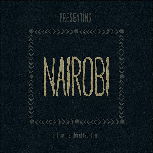 nairobi modern font for designers
