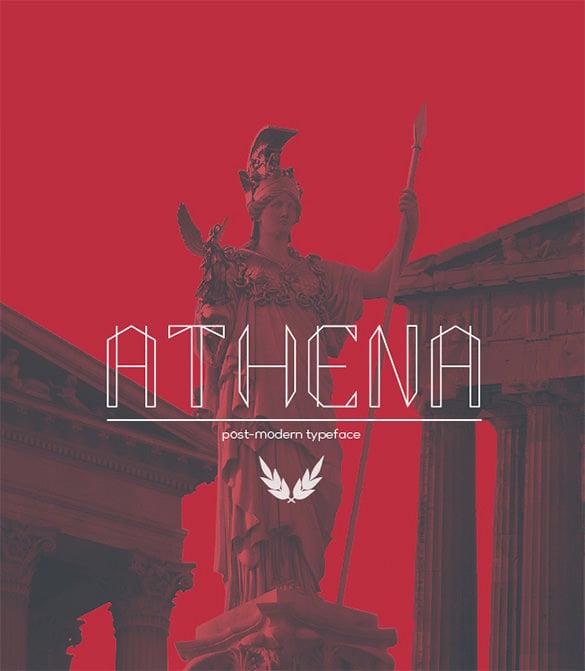 athena modern font for designers