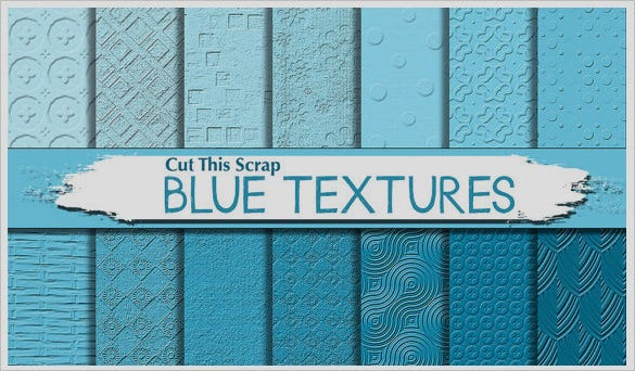 creative blue photoshop textures set
