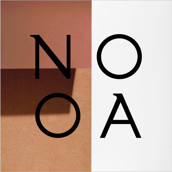 nooa free modern font for designers