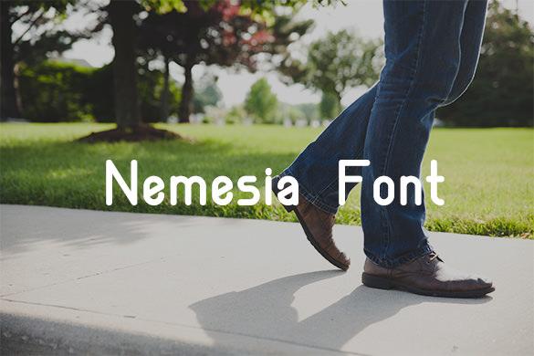 nemesia modern font for designers