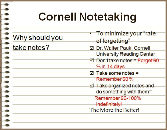 Cornell Notes Powerpoint Presentation Download