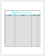 Free Printable Baby Shower Gift List Template. List Template 270 Free Word Excel Pdf Format Free