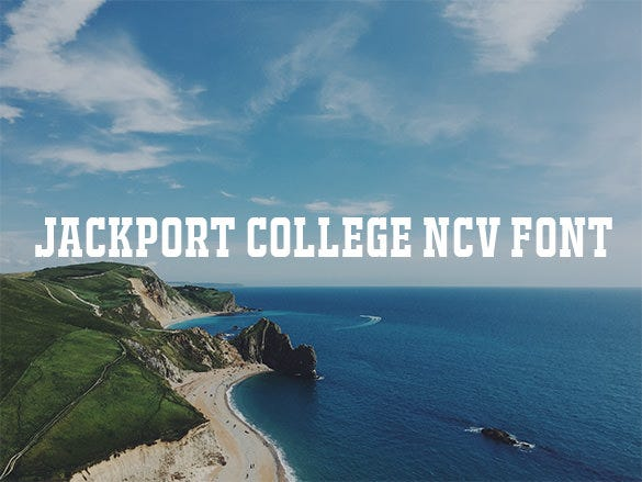jackport college ncv baseball font