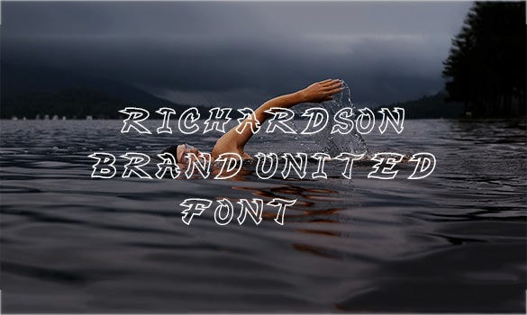 richardson brand united baseball font