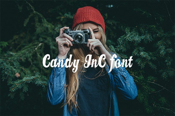candy inc stylish baseball font