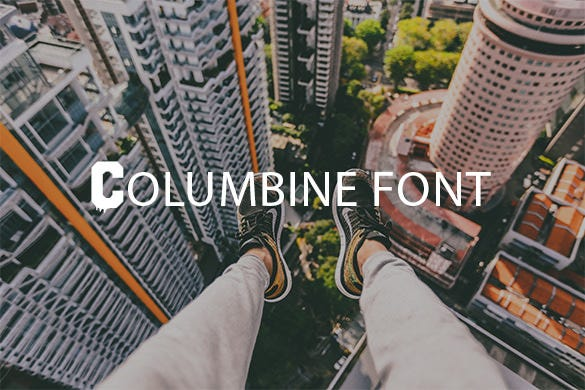 columbine stylish baseball font