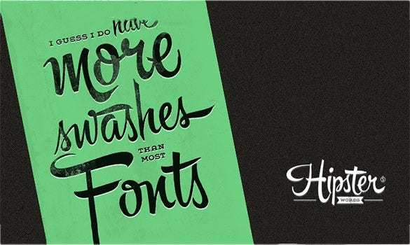 free hipster script pro font