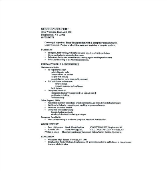 Resume High School Graduate. Sample High School Student Resume