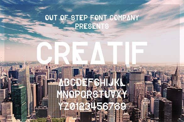 amazing creatif hipster font for free