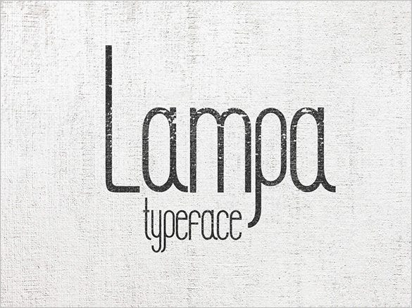 lampa hipster font for free