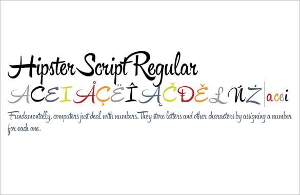 hipster script regular font premium download