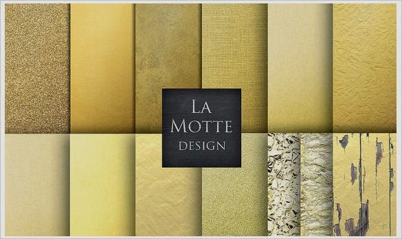 awesome solid gold textures set