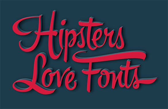 hipsters love font free download