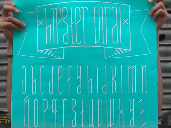 hipster viral free font for you