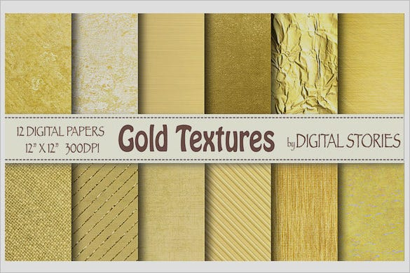 attractive gold textures set