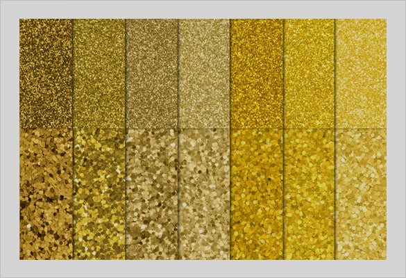 multiple gold foil textures set
