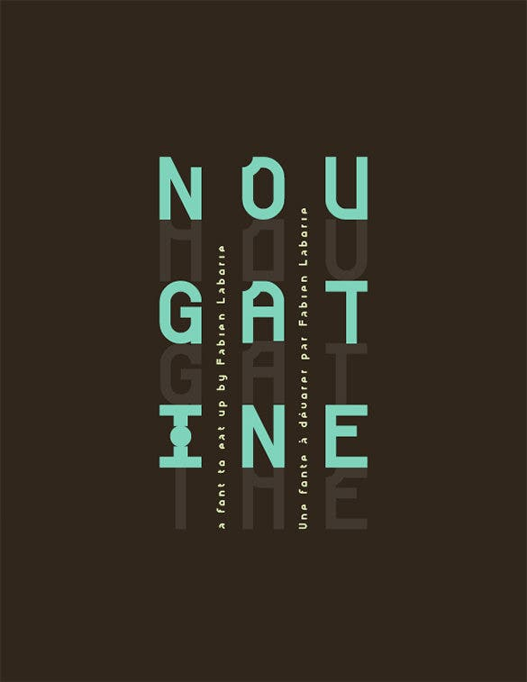 nougatine commercial font free download