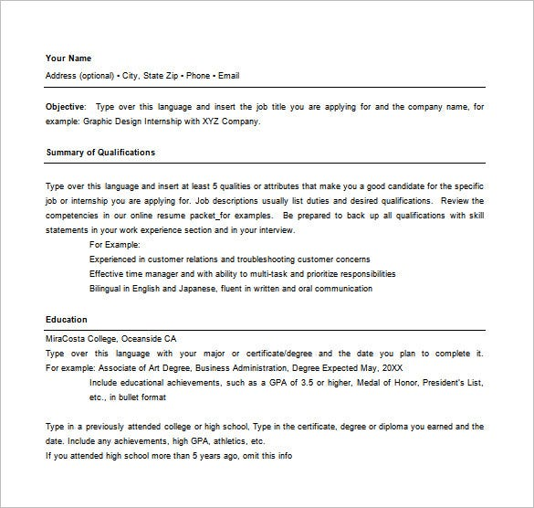 Attractive Best Combination Resume Template Free Download