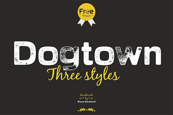dogtown letterpress commercial font