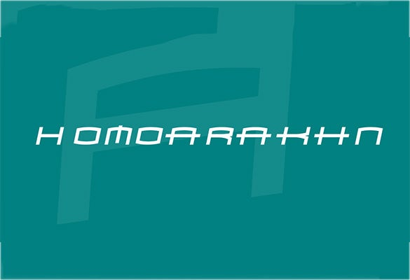 homoarakhn free commercial font for you
