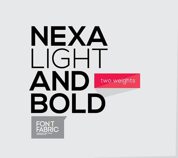 amazing free nexa commercial font