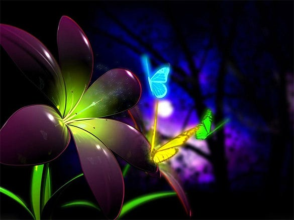 digital flower screensaver free download